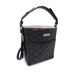 Picture of Ella Quilted Black Mini Bucket Bag